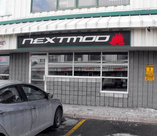 Newly repaired store front. Within the next week there should be new signs, security bars for the windows and more secure door locks. The alarm system coverage will also be in place before we commence setup.