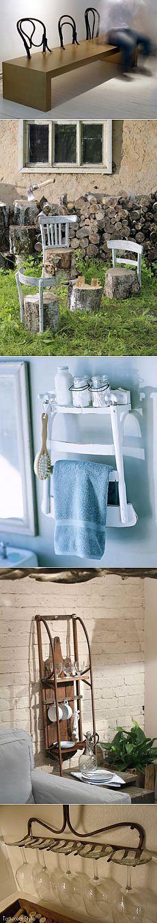 Используем спинки старых стульев / Мебель / Модный сайт о стильной переделке одежды и интерьера