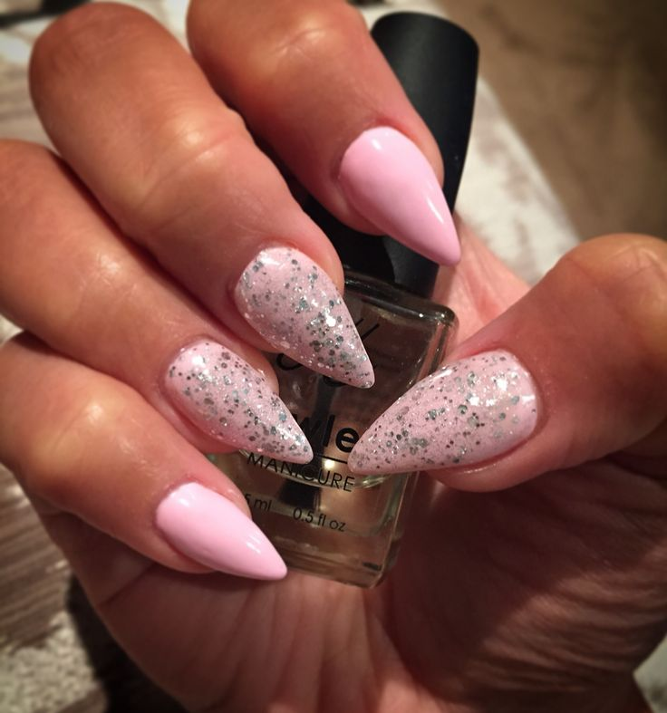 "Opallac gel polish in ""Pastel Polly"" & ""Showered in diamonds"". Lovely combo!"