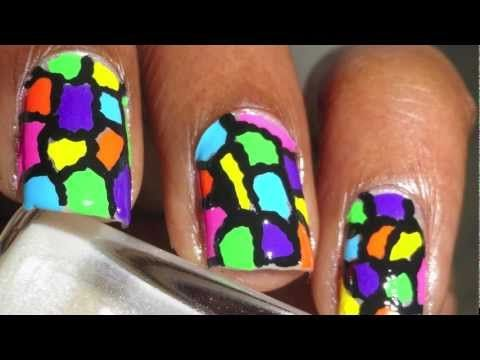 Colorful Mosaic Nail Art HD