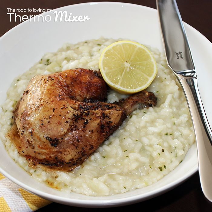 Created with Jamie | Lemon and Herb Chicken with Zucchini Risotto