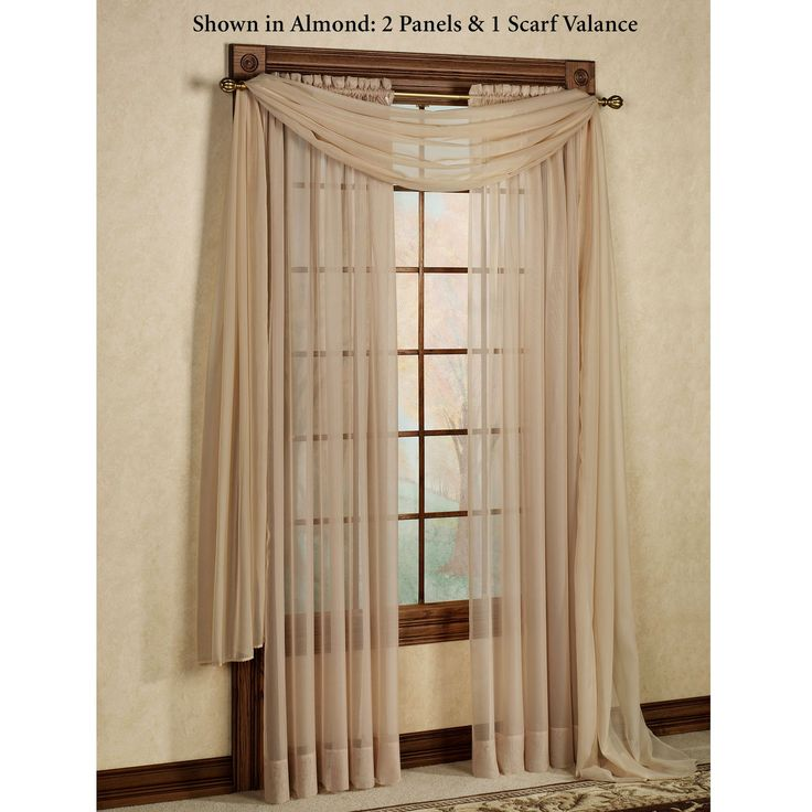 20 best living room curtains images on Pinterest Scarf valance - swag curtains for living room