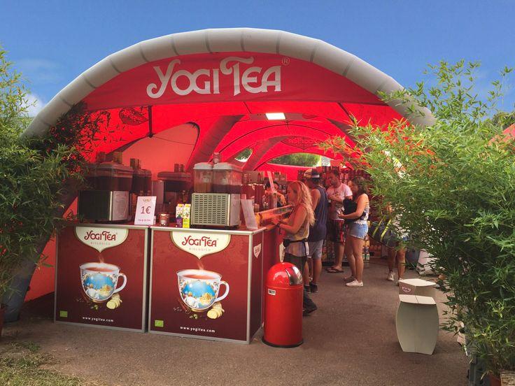 Yogi Tea putting their 5x5m X-GLOO Event Tents to good use as a mobile tea house!