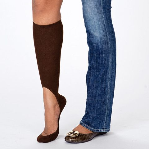 Women's Brown Pair of Key Socks for flats/heels in the winter. awesome!