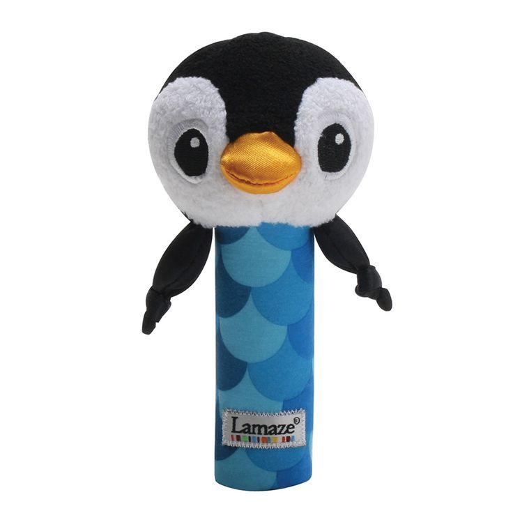 Lamaze Rattle, Penguin Blue