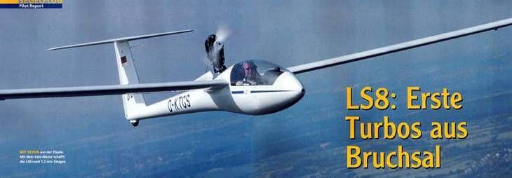 DG Flugzeugbau: LS8-st: Erste Turbos