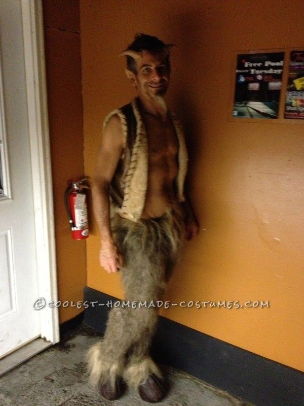 Mischievous DIY Satyr Costume ... This website is the Pinterest of costumes