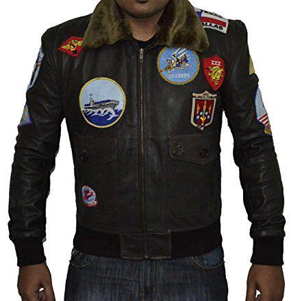 Top Gun Brown REAL Sheep Leather Jacket SAT 2 (L)