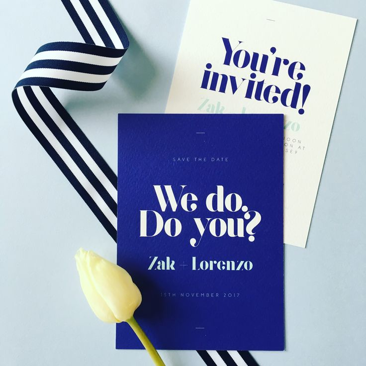 Big bold and unconventional Wedding invitations from