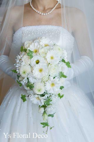 ガーベラのティアドロップブーケ   ys floral deco  @品川ザ・ランドマークタワートーキョー
