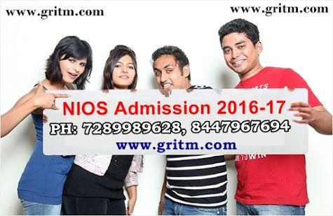 NIOS 2017 Admission April October 10th12th