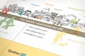 Illustration - Brochure sur les déterminants de la santé