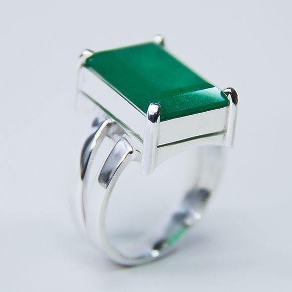 Lindo Anel Com Pedra Jade Prata 950 Pedra Natural 16 Mm X 11 Mm