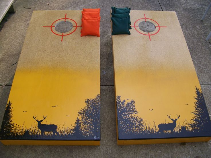 Deer hunting cornhole boards I made.