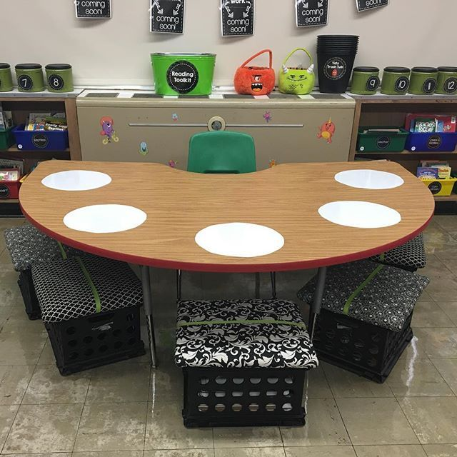 Everyone was posting all of their pretty dry-erase circles for their small group table, but I couldn't find them at my Five Below, so I improvised with some dry-erase contact paper. BONUS: just $5 for the whole roll and I even have extra left over to make more when these ones get icky! #teacherwin #smallgroups #dryerase #classroomonabudget #teachersofinstagram #teachersfollowteachers #iteachtoo #iteachfirst #firstgrade #happyclassrooms