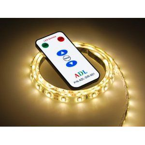 Universal LED Remote Controlled Light Strip - Used for Night Light Lamp Under Kitchen Cabinet Desk TV Accent Lights Home Décor Marine Boat RV Motorhome Table Reading Light - 1M 60 LED Strip Light SMD3528 Warm White Waterproof 12V 3528 SMD Flexible DIY Strip Light Lighting