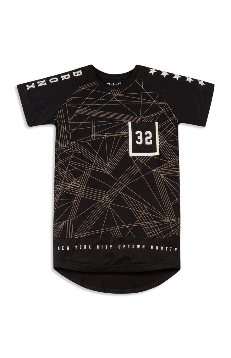 Older Boy Long Line Mesh T-Shirt