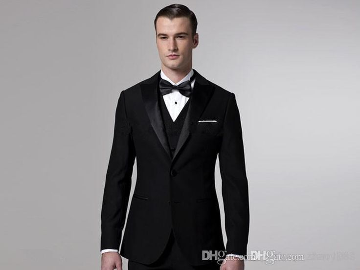 2014 Black Groom Tuxedos Men Wedding Suits Blazers Bridegroom .
