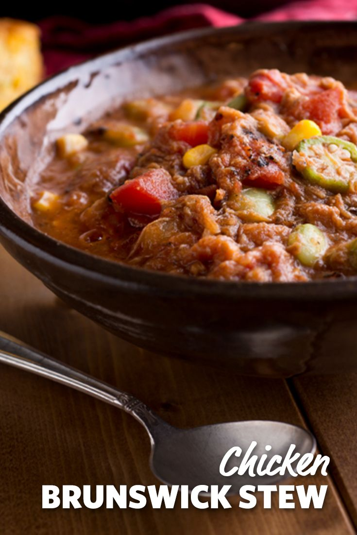Chicken Brunswick Stew is a hearty meal full of your favorite vegetables and spices to warm your belly on a chilly day. #Stew #Chicken #Winter #Hearty #Recipes