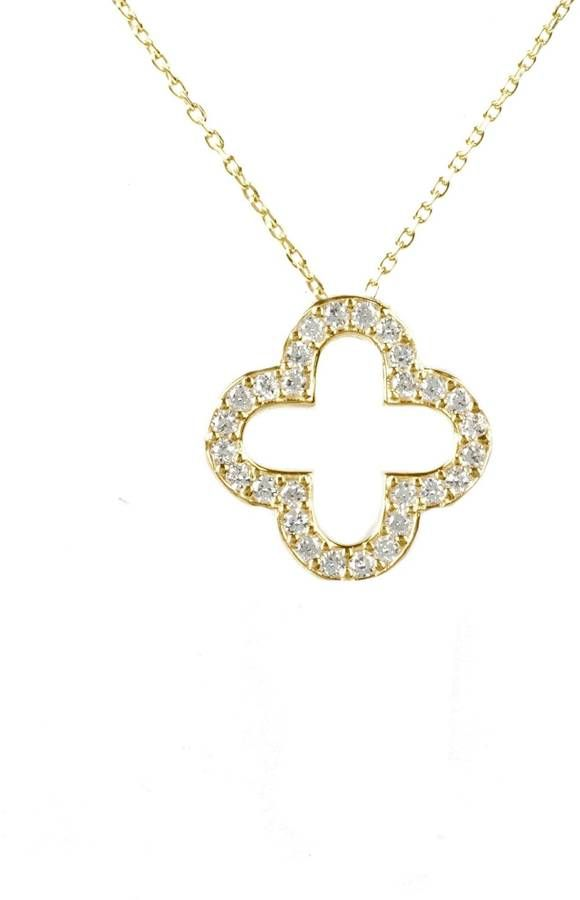 Latelita London - Open Clover Necklace Gold
