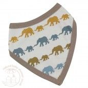 Organics for Kids Bandana Bib - Silhouette Multi Coloured Print - Mustard Elephant Mix  Buy yours here: http://www.naturalbabyshower.co.uk/catalogsearch/result/?q=Teething