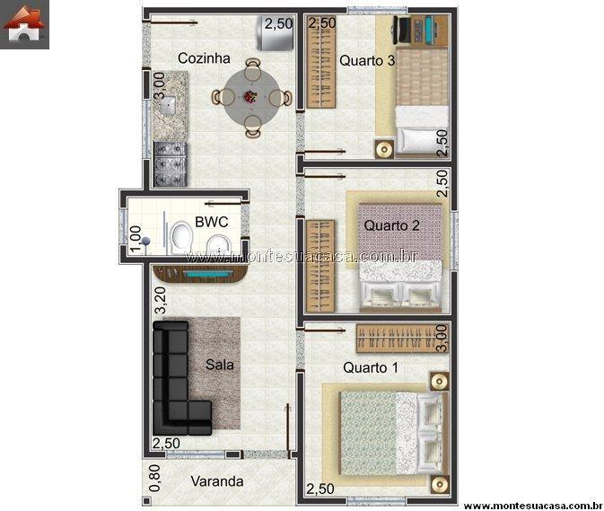 57 best images about fachadas e plantas de residencias on - Modelos de casas de campo pequenas ...