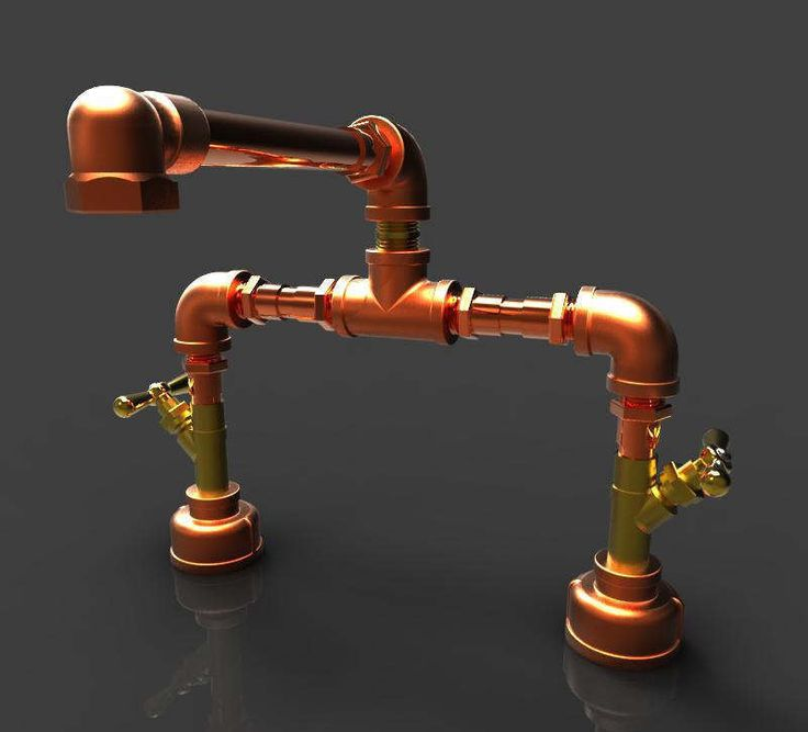 "Copper and Bronze Bathroom Faucet 8"" by MadronaBay on Etsy https://www.etsy.com/listing/263277240/copper-and-bronze-bathroom-faucet-8"