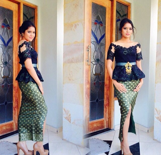 Black and slit for your kebaya.