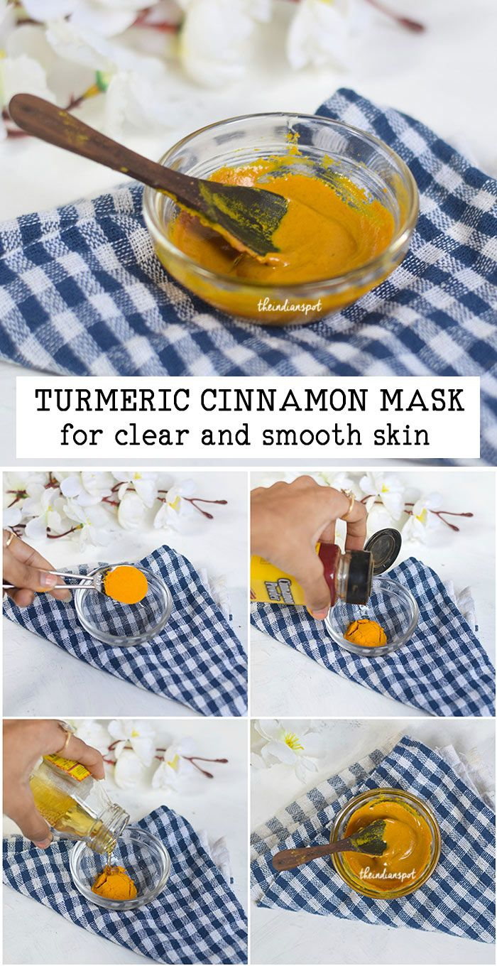 TURMERIC CINNAMON MASK for clear and smooth skin | THEINDIANSPOT.COM