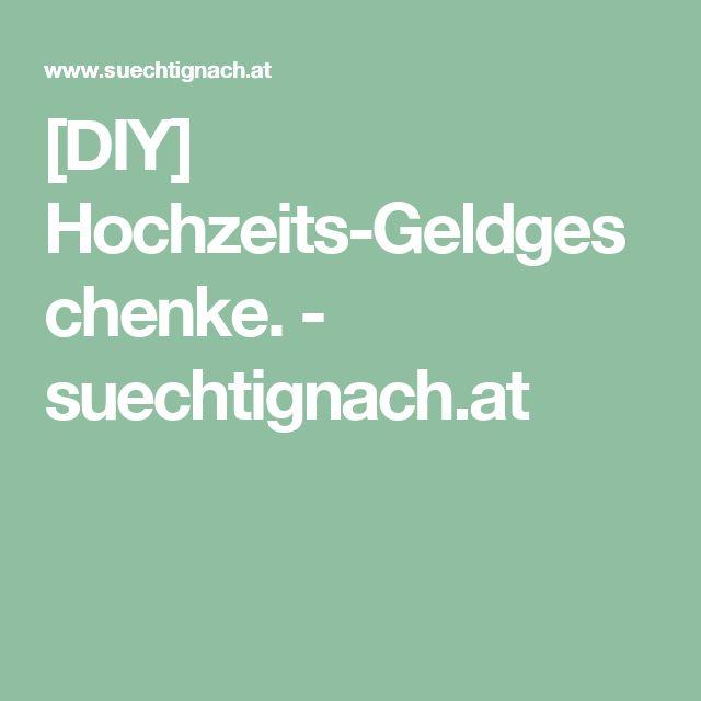 [DIY] Hochzeits-Geldgeschenke. - suechtignach.at