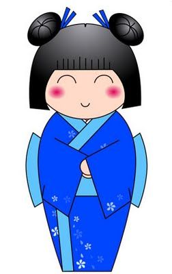 Blue Butterfly: Kokeshi Dolls                                                                                                                                                                                 Mais