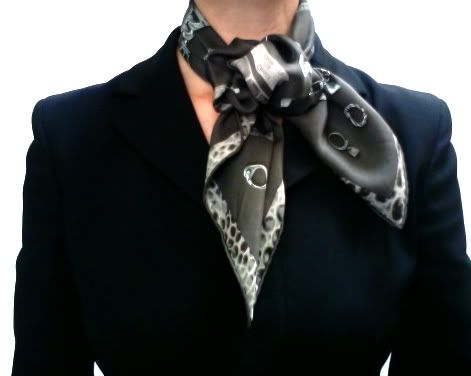 Lots of beautiful silk scarf knots.  How to use a scarf ring.
