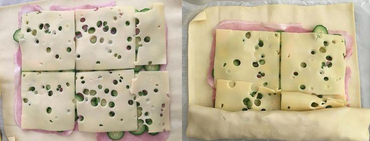 1 rotolo di pasta sfoglia rettangolare 3 zucchine 100 gr prosciutto cotto 100 gr edamer a fette (o altro formaggio filante a fette sottili) sale latte  Procedimento per il rotolo zucchine prosciutto e formaggio:  Fate bollire una pentola di acqua leggermente salata e mettete a cuocere le zucchine tagliate a rondelle per 5/10 minuti circa. Scolatele e asciugatele bene. Srotolate la pasta sfoglia e mettete sopra le fette di prosciutto cotto tenendovi a due dita circa dal bordo. Mettete so