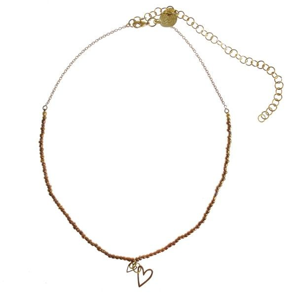 Copper Wishes beads necklace heart bangle- A Beautiful Story summer 2015 #autumntype #herfsttype