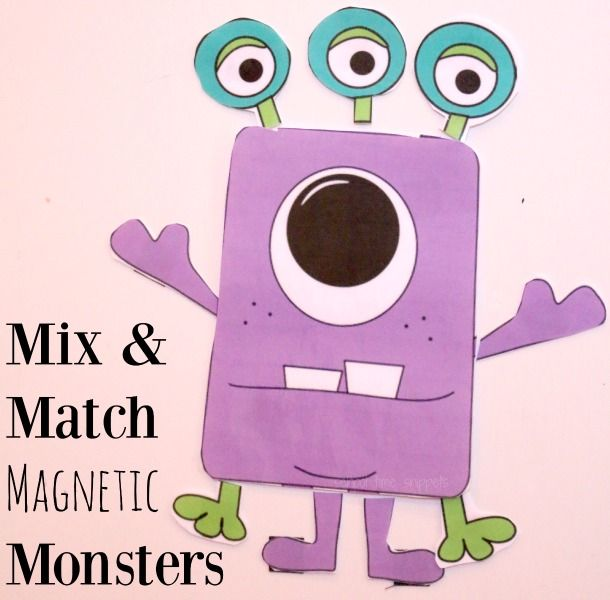 School Time Snippets: Mix and Match Monsters Printable