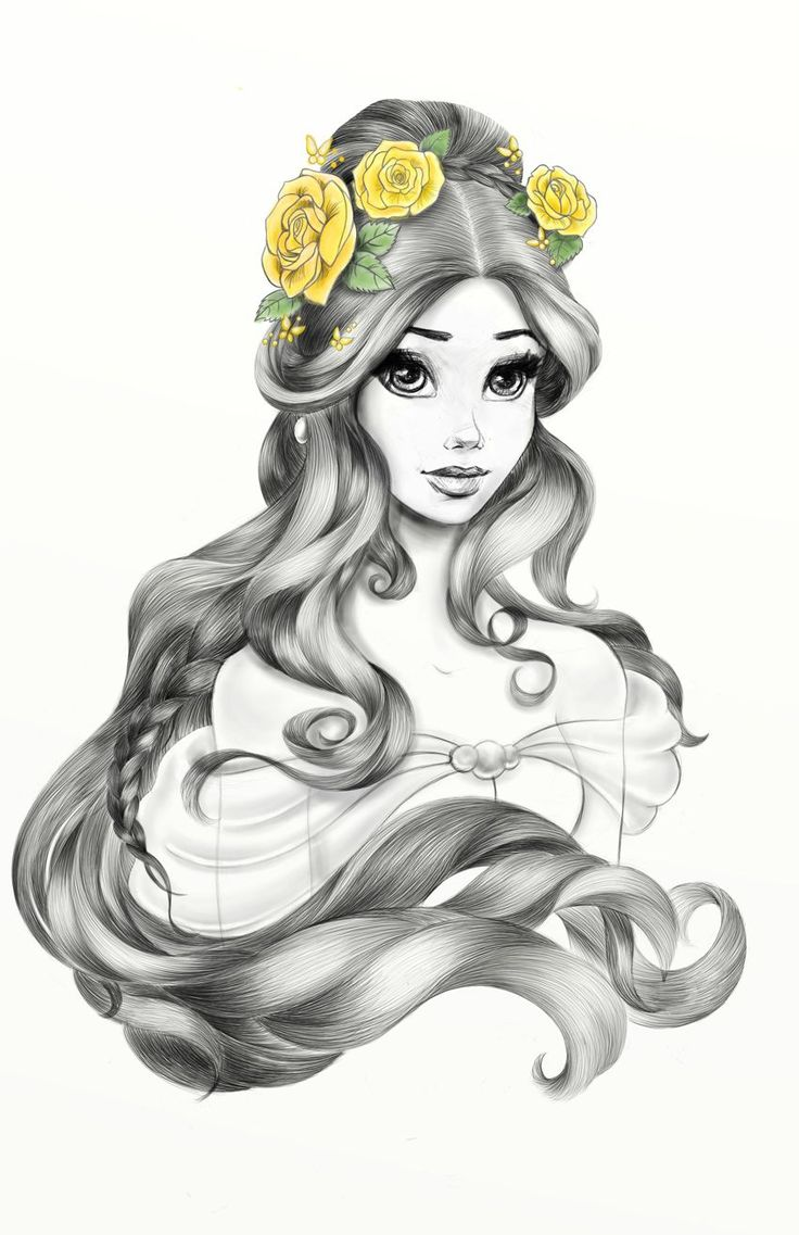 Janene Dunbar on Behance #Disney #Belle #Hairpik #Illustration Beauty and the Be…