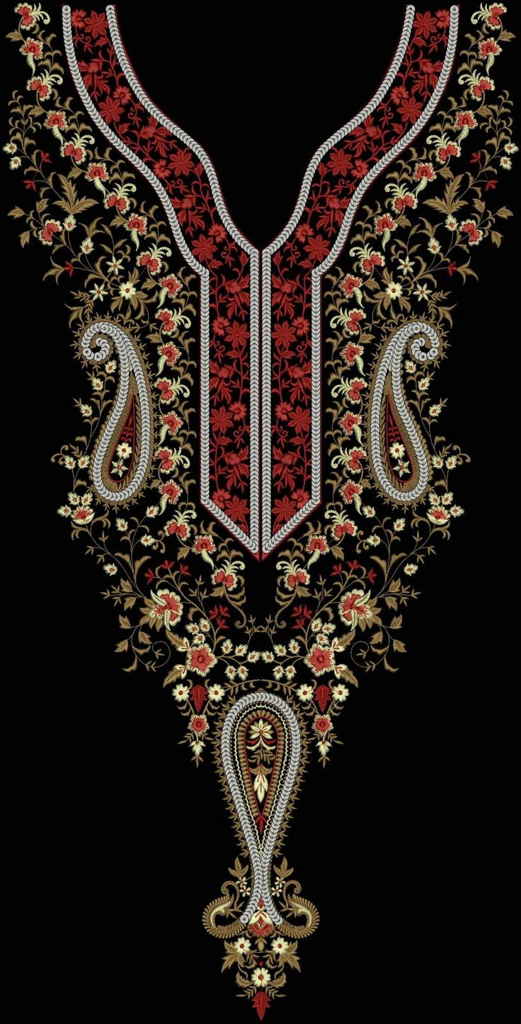 Latest Designs Concept: Embroidery Designs - 34 [ Nack design, Emb nack ]