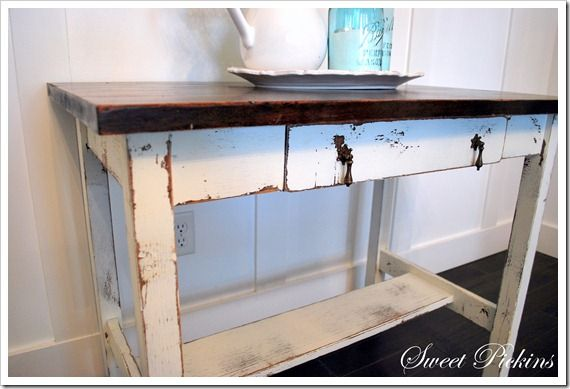How to distress painted furniture Crafty
