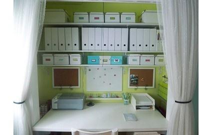 Office in a closetClosets Organic, Closets Offices, Organic Ideas, Offices Spaces, Desks, Closet Office, Small Spaces, Offices Nooks, Home Offices Organic