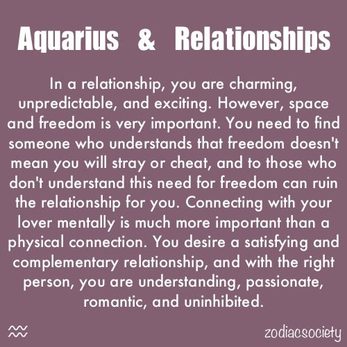 Yes, space is very important. I'm thinking I need to date another Aquarius cause no one really gets it.