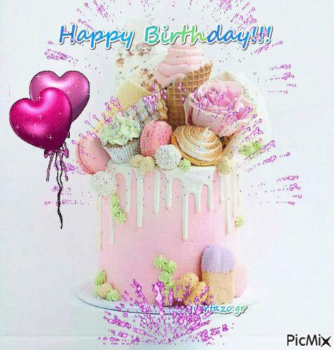 Happy Birthday Burst Gif