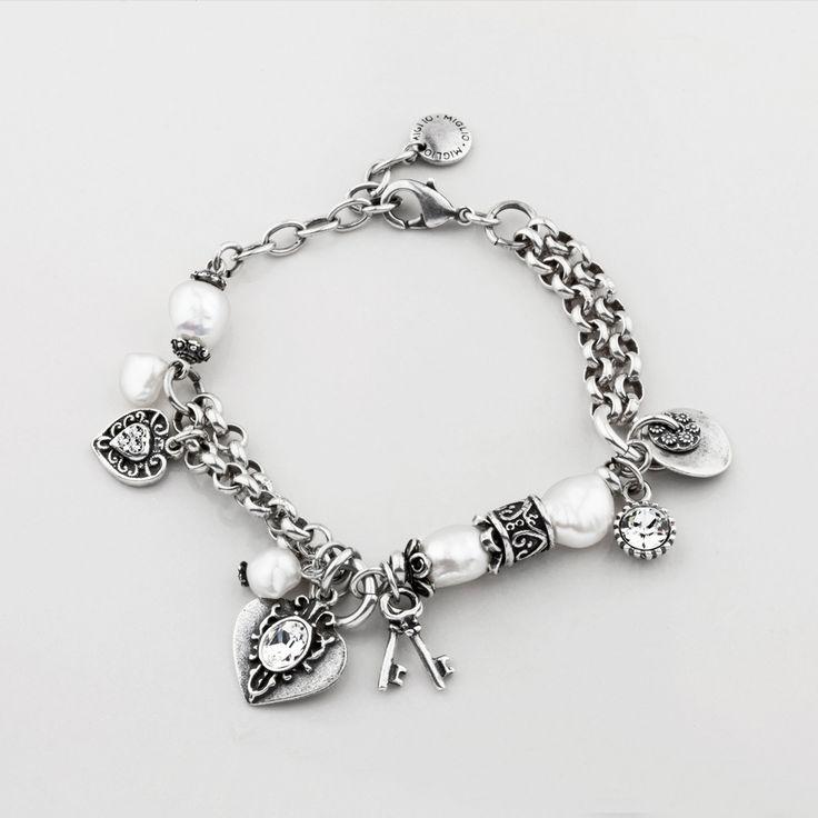 Miglio Designer Jewellery - Detailed Burnished Silver