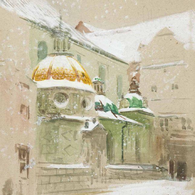 Leon #Wyczółkowsk, Kaplica Zygmuntowska w ziemie, 1914, wł. Muzeum Narodowe w Krakowie // owned by the National Museum in Krakow