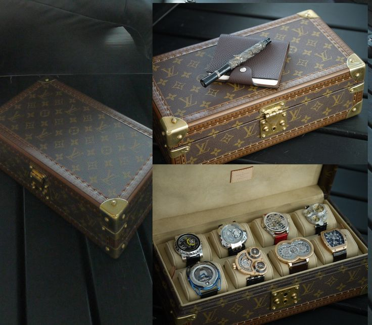 Louis Vuitton 8 Watch Case with supreme time pieces inside! Two year's salary for the average American won't buy this box! Wow! Tourbillions and Complicated watches! Makes your G-Shock look like a watch from a cereal box! Men's Luxury Indeed!