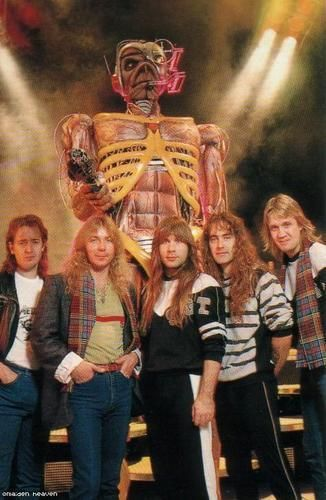 Adrian Smith, Dave Murray, Bruce Dickinson, Steve Harris, Nicko McBrain (Somewhere On Tour - 1986/87)