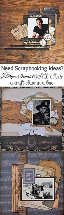 Need Scrapbooking Ideas? This is a fantastic 'Craft Class in a Box' one of my favourites, because you get to scrap the boys and make a lot of male cards for your stash - http://www.paperflourish.com.au/blog/a-craft-class-in-a-box/