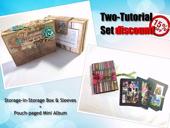 Tutorial SET: Pouch-Paged Mini + Storage-in-storage keepsake box