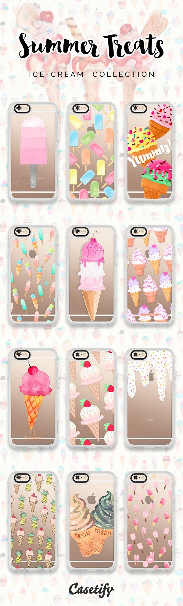 12 must have ice cream iPhone 6s protective phone cases | Click through to see more ice cream food iPhone phone case ideas >>> https://www.casetify.com/artworks/pg1gKLYa2S | @casetify