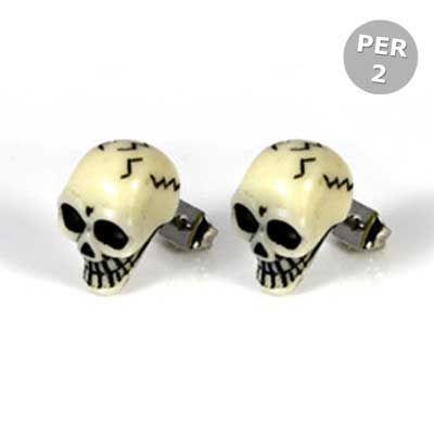 Kingsley Ryan * Schedels stud oorbellen - Per Paar - horror Halloween