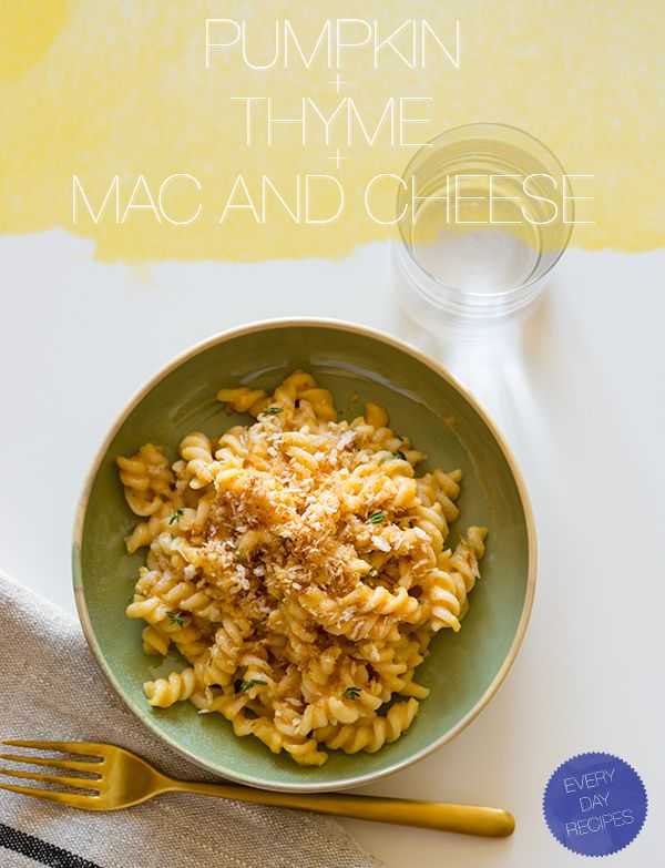 Pumpkin and thyme mac and cheese.